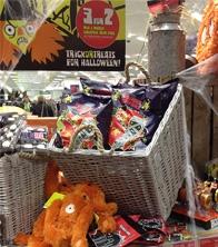 Baskets, glavanised churns, raffia & cobwebs