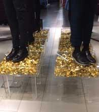 Topman - Christmas 2014 - Gold Foil Plinths