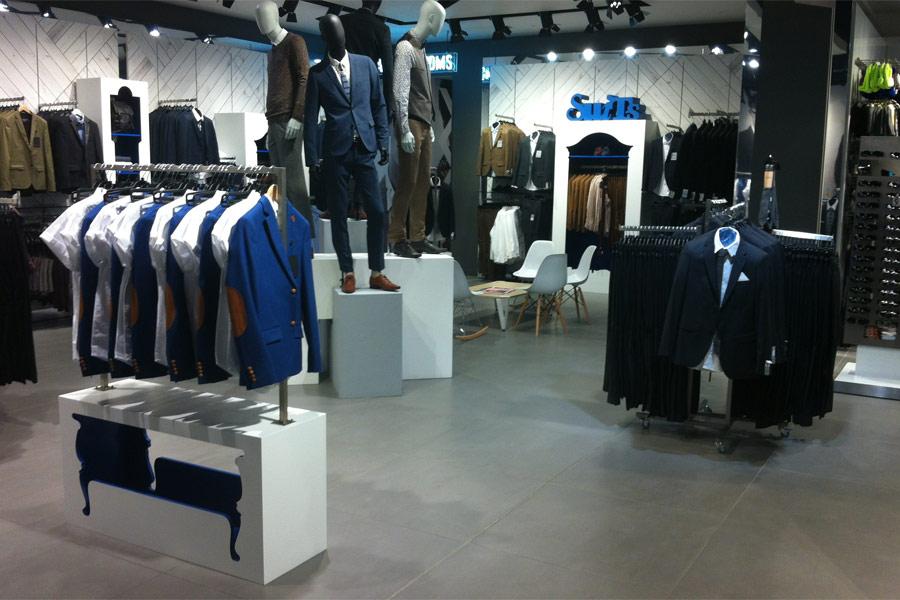 TOPMAN - Premium Suits Store Fixtures at Lakeside